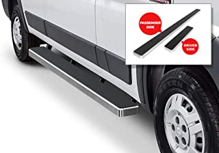 APS iBoard (Silver Powder Coated 5 inches) Running Boards Nerf Bars Side Steps Step Rails Compatible with 2014-2020 Dodge ProMaster Full Size Van 136 inches 159 inches Wheelbase