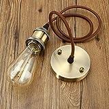 KINGSO E27 Colgante Araña Vintage Retro Antiguo Edison Lámpara Base 110-250V Adaptador d...