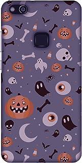 AMZER Slim Fit Handcrafted Halloween Designer Printed Hard Shell Ultra Light Back Case Cover Skin for Huawei P10 Lite - Fr...