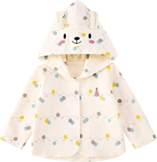 pureborn Baby Girls Toddler Kids Ears Hooded Spring Cute Coat Jacket Outwear