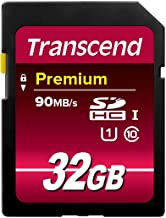 Transcend 32GB SDHC Class 10 UHS-1 Flash Memory Card Up...