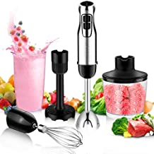 BSTY 5-in-1 Hand Blenders Set 15-Speeds Powerful Immersion Blender with 500-Watt Motor and Turbo Boost Button for Maximum Power,Hand Held Blenders (Renewed)