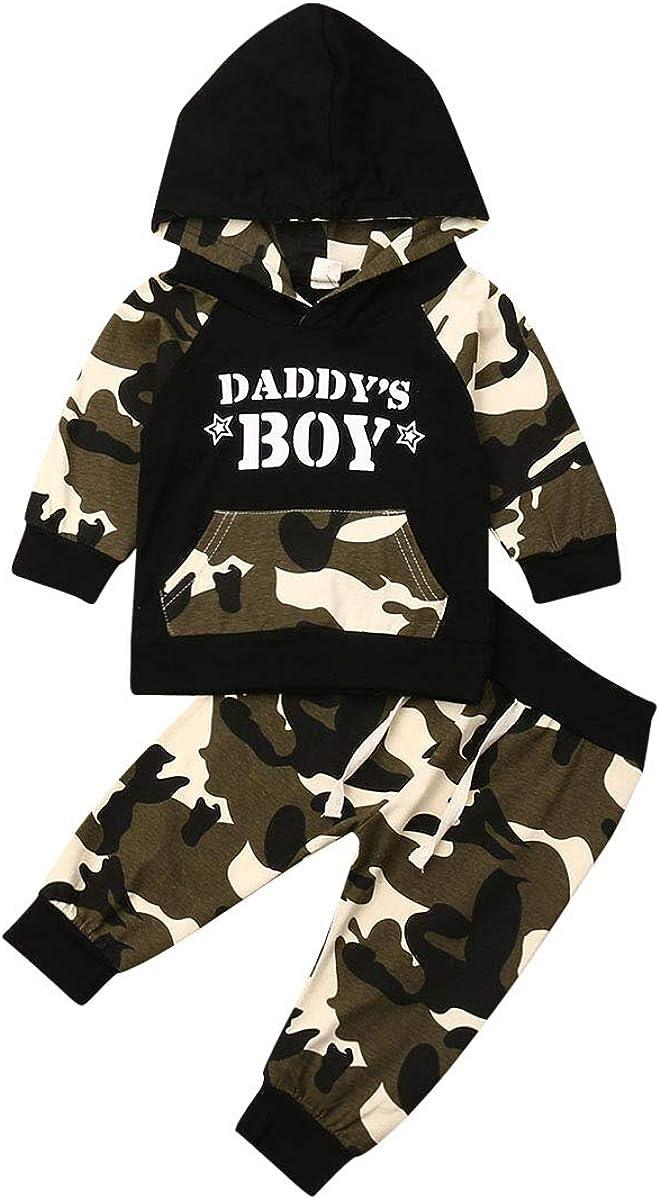 Toddler Baby Boy Pants Set Letter Print Hoodie Sweatshirt Plaid Jogger Pants 2PCs Clothes Set Playwear Casual Wear