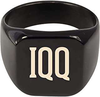 Molandra Products IQQ - Adult Initials Stainless Steel Ring
