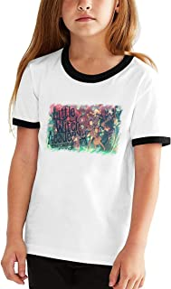 Little Witch Academia Cotton Girls Boys T Shirt Children Youth Contrast Color Hot Tee Black
