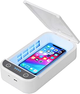 UVC Phone Sanitizer Smartphone Sterilizer, Portable Cell Phone Cleaner UV Light Disinfection Box with Aroma Function for M...