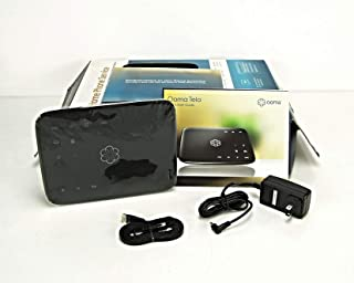 Ooma Telo Free Home Phone Service. Blocks Robocalls with Optional Premier Service, One Size, Black