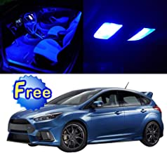 SCITOO LED Interior Lights 10pcs Blue Package Kit Accessories Replacement for 2001-2013 Ford Focus