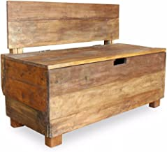 Festnight Wooden Storage Bench Garden Outdoor Storage Box Bench Seat 86x40x60 cm