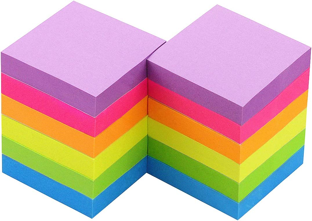 Max 75% Time sale OFF Early Buy Sticky Notes 2 x 6 Color Self-Stick Bright 12