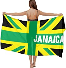 Jamaican Kingdom Flag Chiffon Scarf Beach Cover up Sarong Wrap gift for women