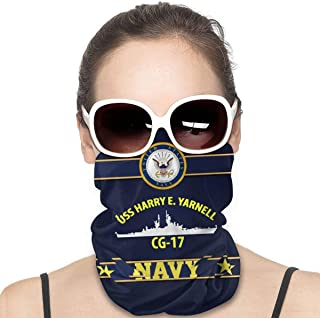 Nother USS Harry E garn, Cg17 ansiktsmask män utomhus variation huvudscarf vindtät multifunktionell mask