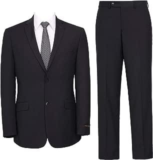 Men's Suit Slim Fit 2-Piece Single Breasted Blazer & Flat Front Pants
