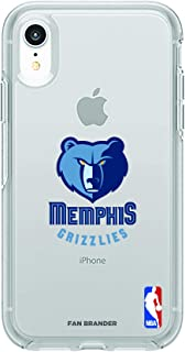 Fan Brander NBA Clear Phone case with Primary Logo Design, Compatible with Apple iPhone XR with OtterBox Symmetry Series