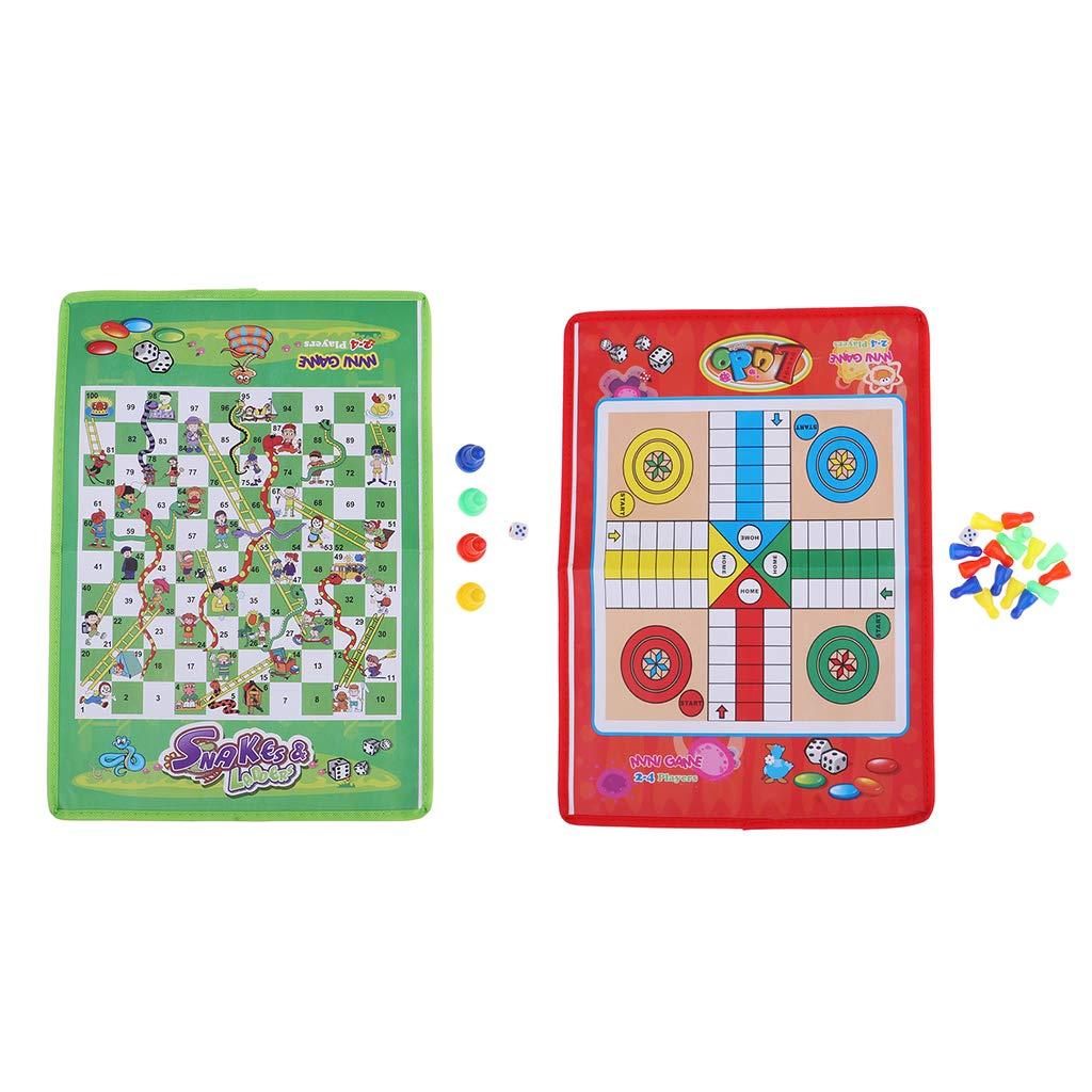 2X Juego De Tablero De Dados Tradicional No Tejido De Serpiente Y Escalera para Niños Y Adultos: Amazon.es: Juguetes y juegos