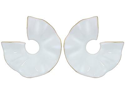 J.Crew Vera Matte Enamel Wave Earrings (White) Earring