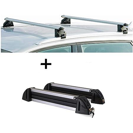 supporto per sci//snowboard//portasci in alluminio 4 paia di sci compatibili con BMW X3 VDP F25 barre portapacchi CRV107A 5 porte dal 2011