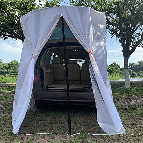 SUV Tailgate Shelter Tent Privacy Shelter Waterproof White Portable Changing Room for Biking Toilet...