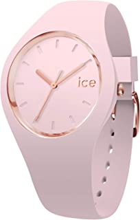 Ice-Watch - Ice Glam Pastel Pink Lady - Women's Wristwatch with Silicon Strap