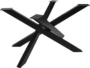 Tafelframe Orion Design kruisframe, heavy duty, massieve tafellopers, staal, tafelpoten, metaal(Blanke lak 150x81xH71 cm)