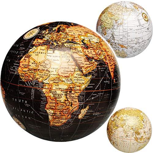 alles-meine.de GmbH 3 Stück _ Ball / Deko Kugel - Erde - Welt - Globus - 11 cm - Kontinente Länder Meer Geographie / Erdkunde - Weltkarte - Dekoration - Geldgeschenk - für Kinder..