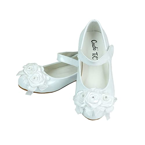 4cd0cdff6c2 Flower Girls White Formal Special Occasion Shoes