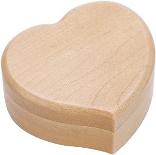 Regalo de la caja musical del mecanismo de la madera del vintage de la forma del corazón para la Navidad o el cumpleaños