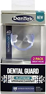 DenTek Platinum Ultimate Comfort Dental Guard | For Nighttime Teeth Grinding | 2 Pack