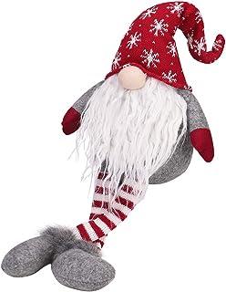 Handmade Gnomes Home Decor Christmas, Plush Doll Collectible Figurine White Beard Santa Swedish Gifts Holiday Decorations 18 inch