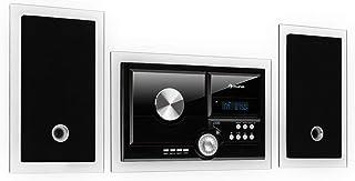 auna Stereosonic Stereo System - Minicadena estéreo , Equipo de música , Reproductor de CD , Puerto USB , Interfaz Bluetoo...