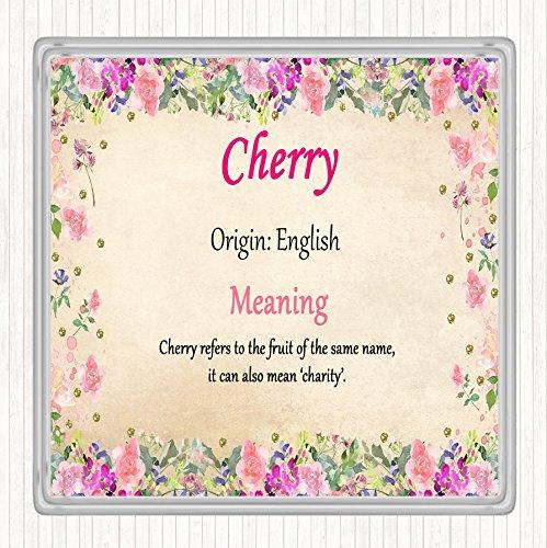 Cherry Naam Betekenis Dranken Mat Coaster Bloemen