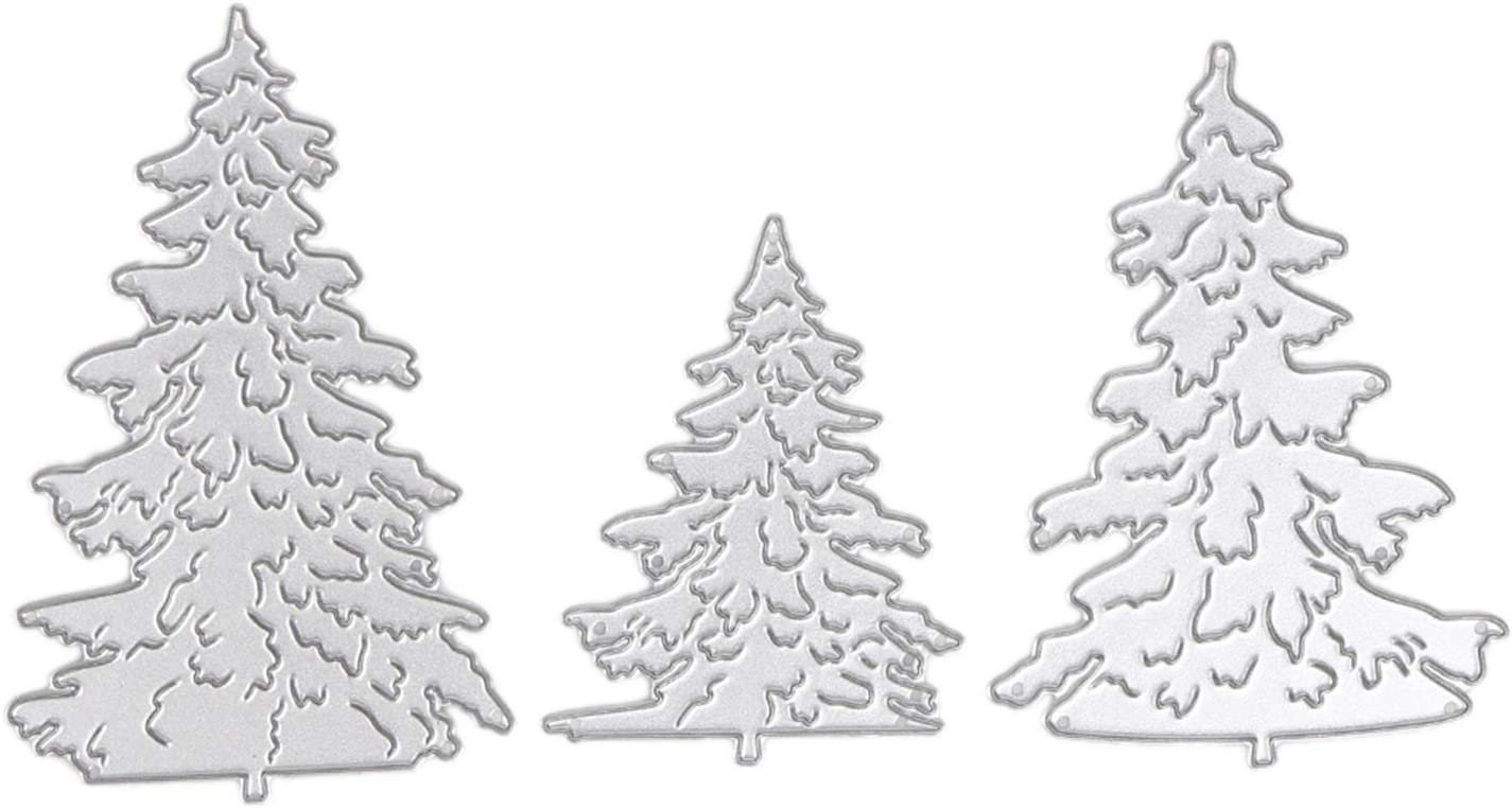 LHZUS 3pcs Christmas Tree Metal Die Over item Clearance SALE! Limited time! handling for Scrapbo Dies Cutting DIY