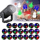Indoor Light Projector, Projection Lights for Christmas Halloween Partys Decor, Auto Rotating Spotlight with 20 Multicolor Switchable Slides, Laser Indoor Projector Lighting Spotlight Lawn Lights