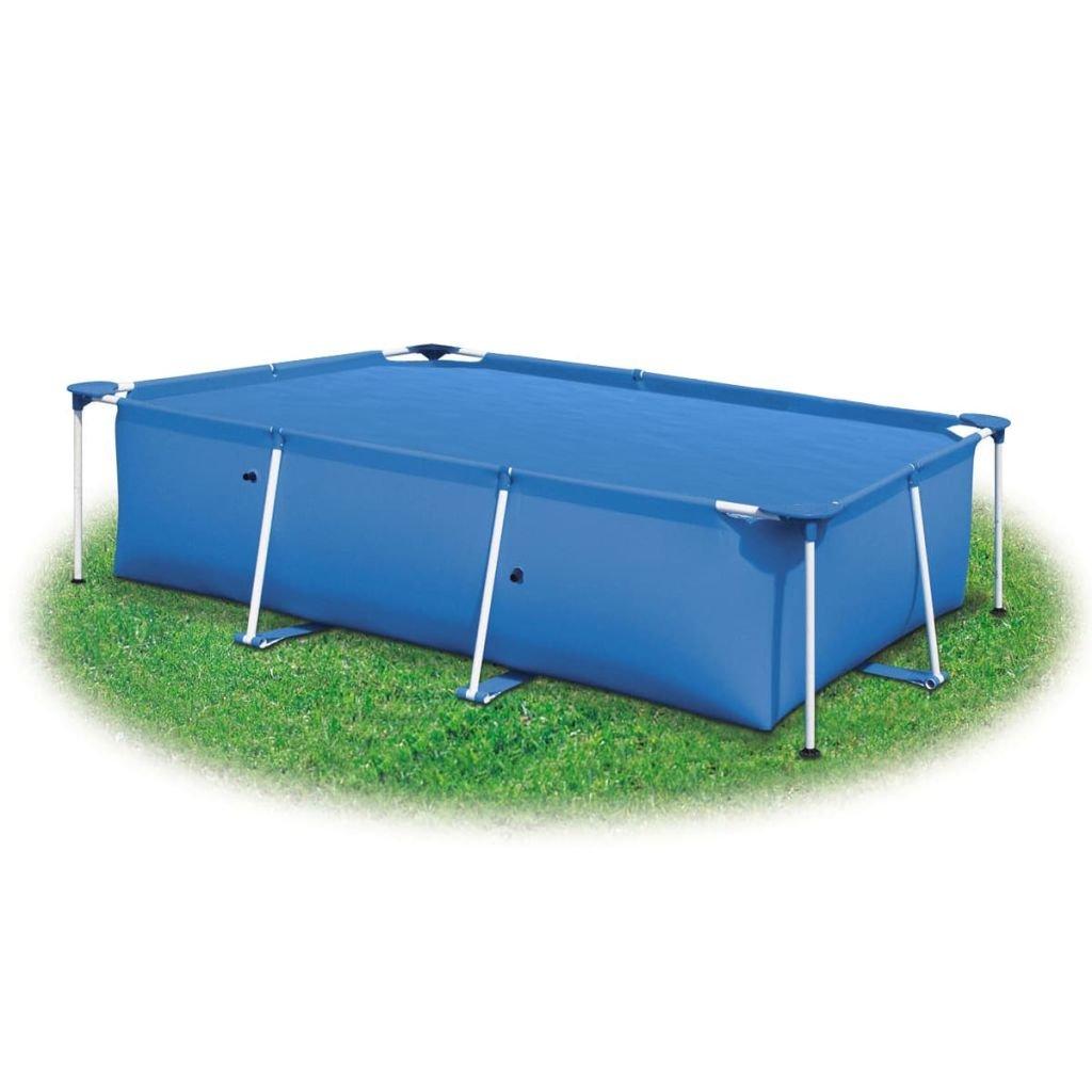 vidaXL Cubierta rectangular de PE piscina, azul, 300 x 200 cm ...