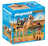 Features a Egyptian Warrior Ready to Protect the Pharaohs Treasure Includes 1 Playmobil Egyptian Figure with accessories Can be combined with the Pharaoh's Pyramid (5387) Encourages learning from interactive play Great addition to the Playmobil Histo...