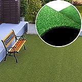 Tapiso Césped Artificial New 2021 Exterior Alfombra de Hierba Sintético Terraza Jardín Enrollable por Metros 100 x 100 cm