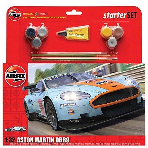 Airfix A50110 Aston Martin DBR9 Gulf 1:32 Scale Model Large Starter Set by Airfix Modern Non-military Vehicles & Dioramas