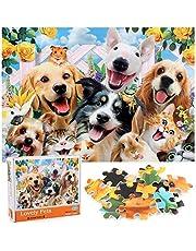 Puzzel met 1000 stukjes, voor volwassenen, schattige dieren, voor kinderen en volwassenen, leerspellen, klassieke puzzel, ideaal voor ontspanning en vrije tijd, puzzel van mooie huisdieren (70 x 50 cm)