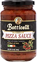 Botticelli Premium Pizza Sauce. Delicious Gourmet Red Sauce Made in Italy, with Olive Oil, Carrots, Onions and Special Spices (12.3oz/348g)