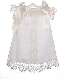 6fbe18486 Isabel Maria - Vestido de hilo con encaje de Alençon para bebés - 6 meses,