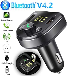 Simplylin Bluetooth Car USB Charger FM Transmitter Wireless Radio Adapter MP3 Player