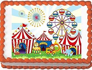 Circus Animals Birthday Edible Cake Topper (8