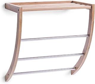 Zeller, 13595, handdoekrek, bamboe/chroom 38 x 24 x 40 cm
