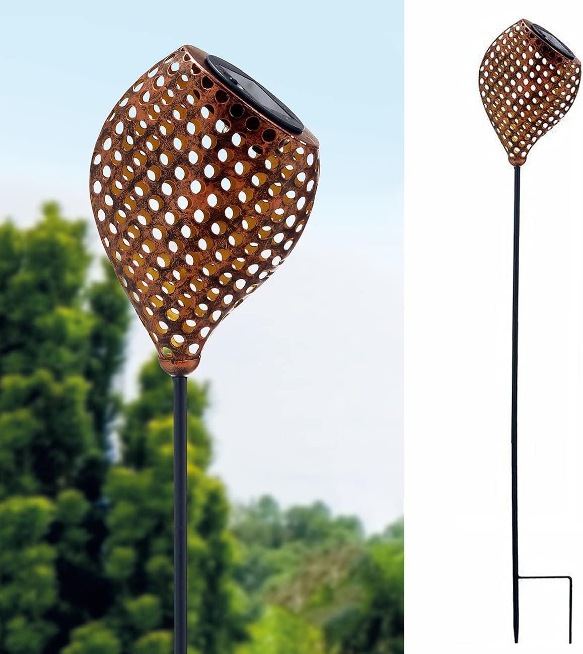 Solar Torch Lights Excellent Garden Decoratives Inch - Rapid rise Metal 34½