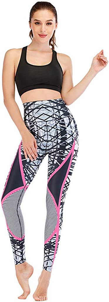 MODOQO Women's Yoga Fashion Vest Sleeveless Vest Print Bottoming Pants Two Piece Suit