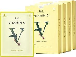 Rael Bamboo Face Sheet Mask - Natural Facial Mask with Vitamin C, All Skin Types, Vegan and Botanical Ingredients (Vitamin...
