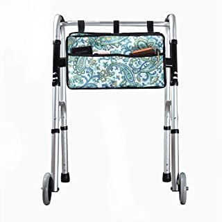 Walker Bag, Hands Free Accessory Basket for Folding Walkers, Multi-Purpose Cell Phone,Water Bottle,Medicine Attachment Fit...