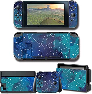 Auphar Games Decal Skins for Nintendo Switch, Full Set Anti-Scratch Matte Cover Sticker Protector Vinyl Wrap Durable Facep...
