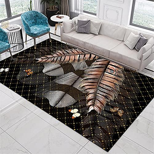 alfombras de Salon Grandes Alfombra Negra Rectangular bajo Terciopelo decoración Moderna Dormitorio...