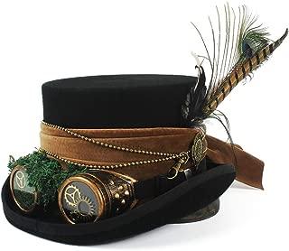 Sombrero Loco Sombrero de Pirata Sombrero de Copa con Gafas Steampunk